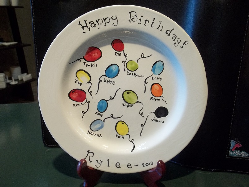 Finger Print Birthday Plates