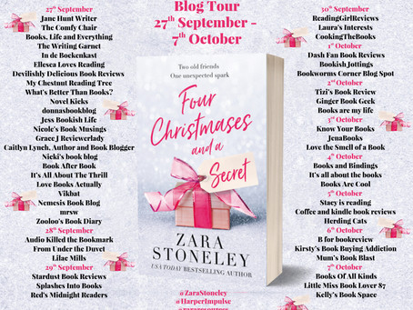 Blog Tour and Book Review: Four Christmases and a Secret by Zara Stoneley
