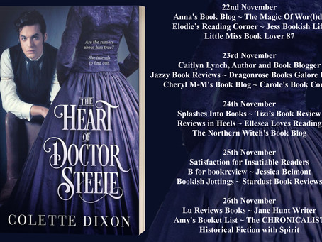Blog Tour and Book Review: The Heart of Doctor Steele by Colette Dixon