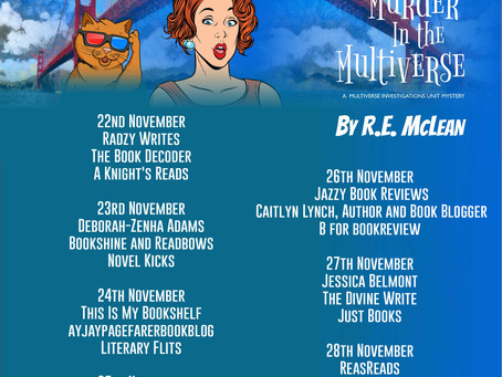 Blog Tour and Book Review: Murder in the Multiverse by R.E. McLean