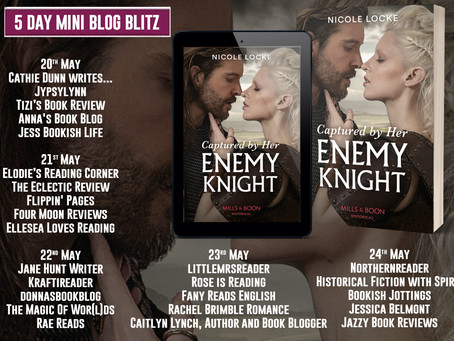 Blog Tour and Book Review: Captured By Her Enemy Knight by Nicole Locke