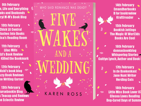 Blog Tour and Book Review: Five Wakes and a Wedding by Karen Ross