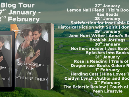 Blog Tour and Book Review: Rags-to-Riches Wife by Catherine Tinley