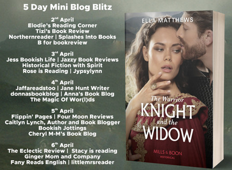 Blog Tour and Book Review: The Warrior Knight and the Widow by Ella Matthews