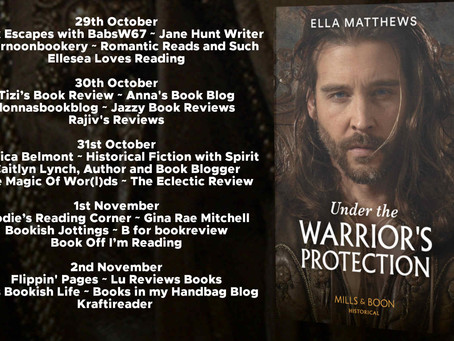 Blog Tour and Book Review: Under the Warrior's Protection by Ella Matthews