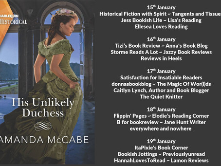 Blog Tour and Book Review: His Unlikely Duchess by Amanda McCabe