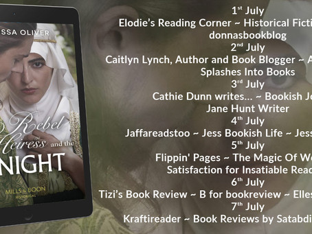 Blog Tour and Book Review: The Rebel Heiress and the Knight by Melissa Oliver