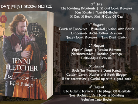 Blog Tour: Reclaimed By Her Rebel Knight by Jenni Fletcher