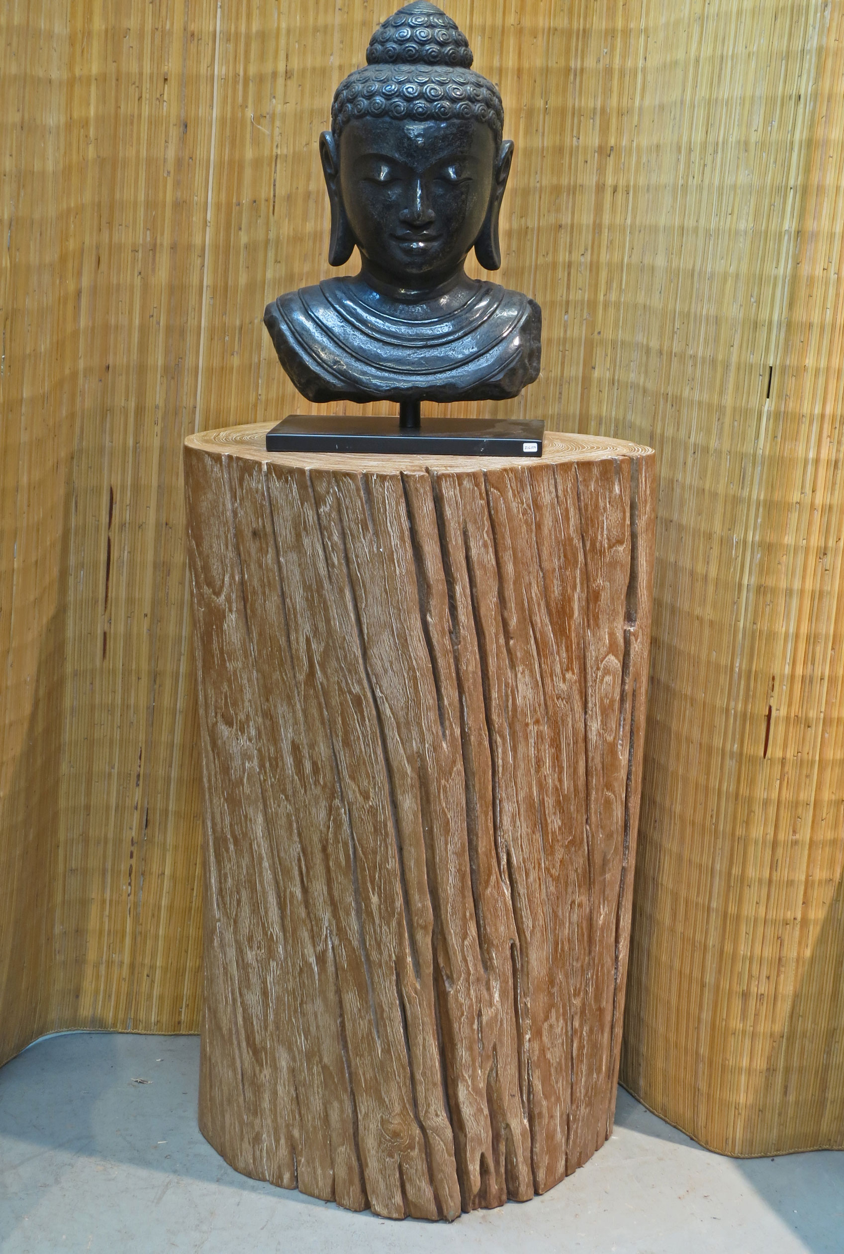 Teak Trunk Display
