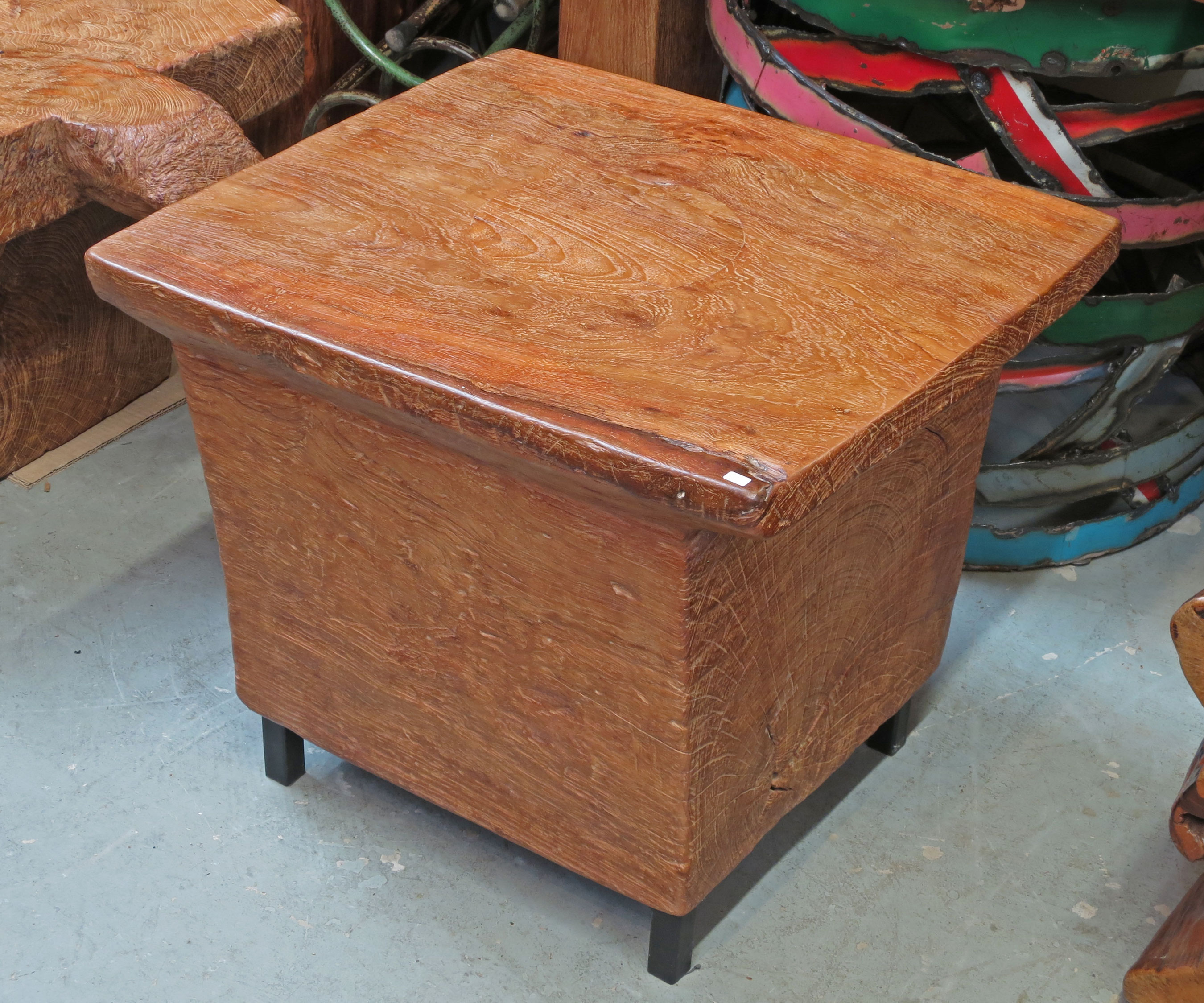 Side table from old mortar