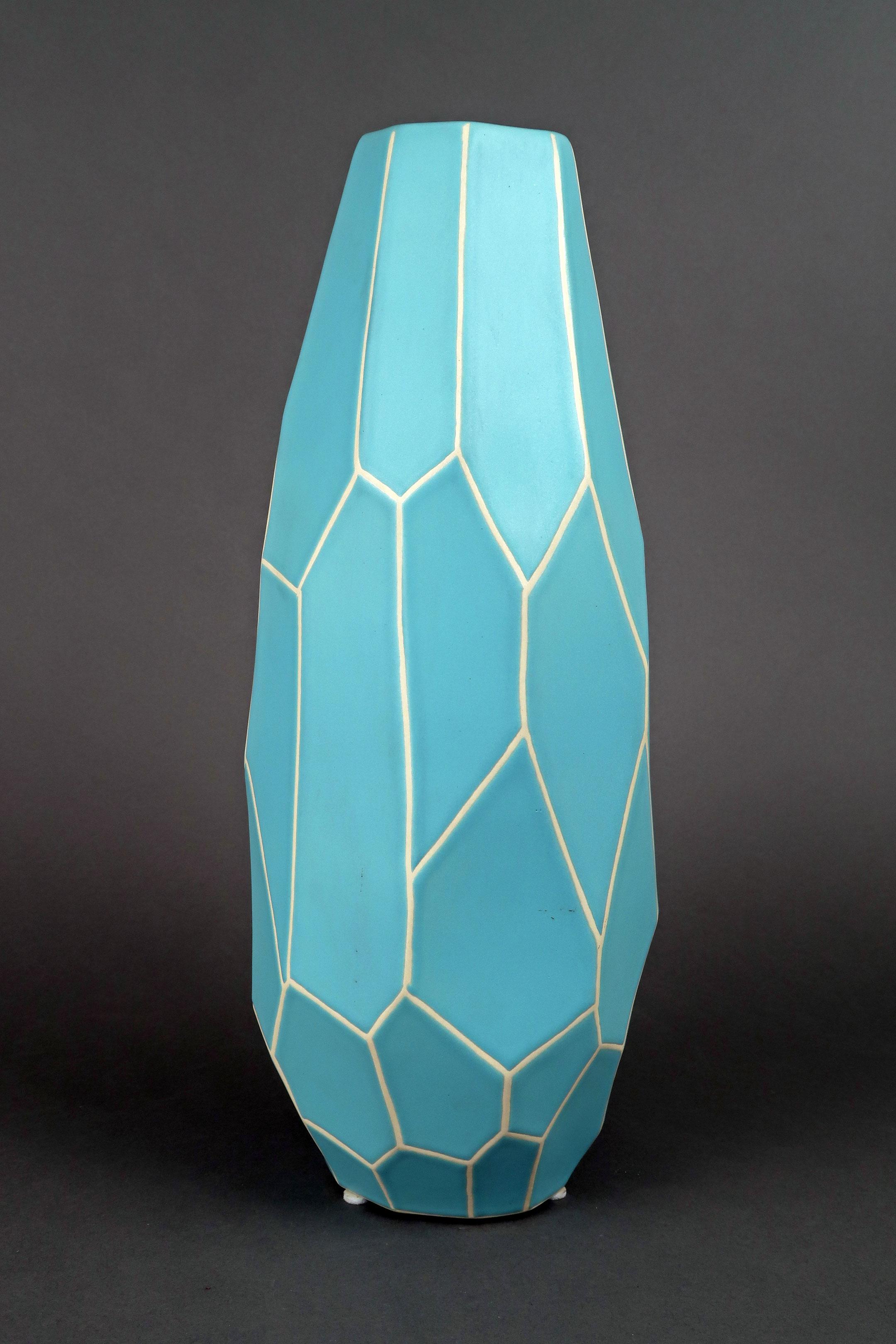 Ceramic faceted vase