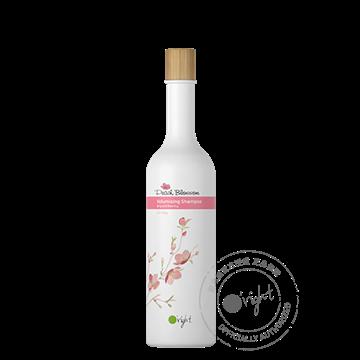 O'right Peach Blossom Shampoo 400ml voor volume en fijn haar. Natuurlijke en gezonde haarverzorging, vegan en glutenvrij.