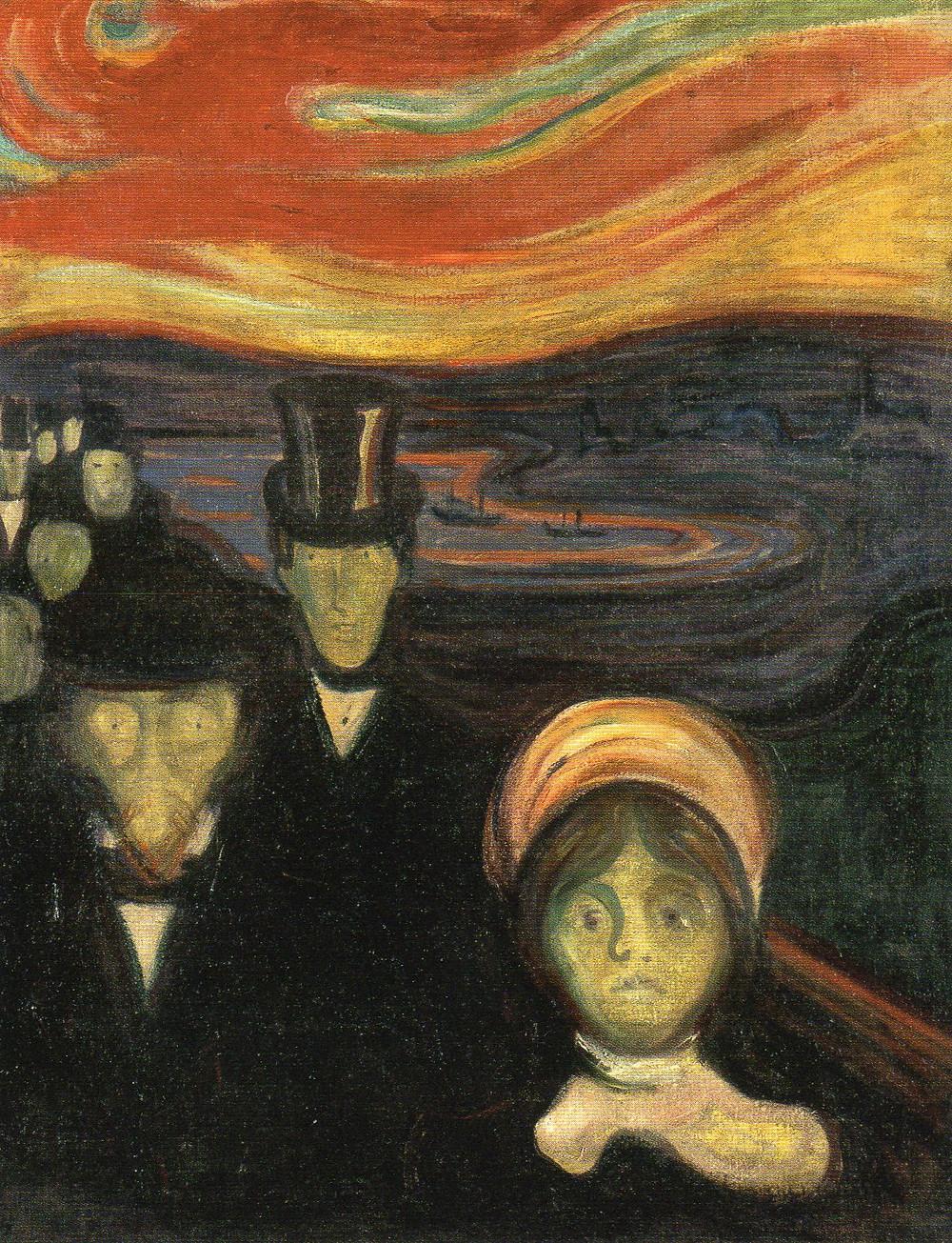 """Angst"", Edvard Munch, 1894"