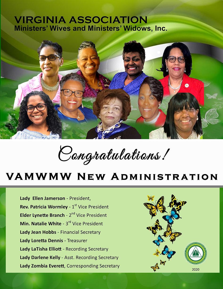 Congratulations VAMWMW New Administratio