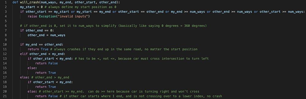 crash rate python algorithm