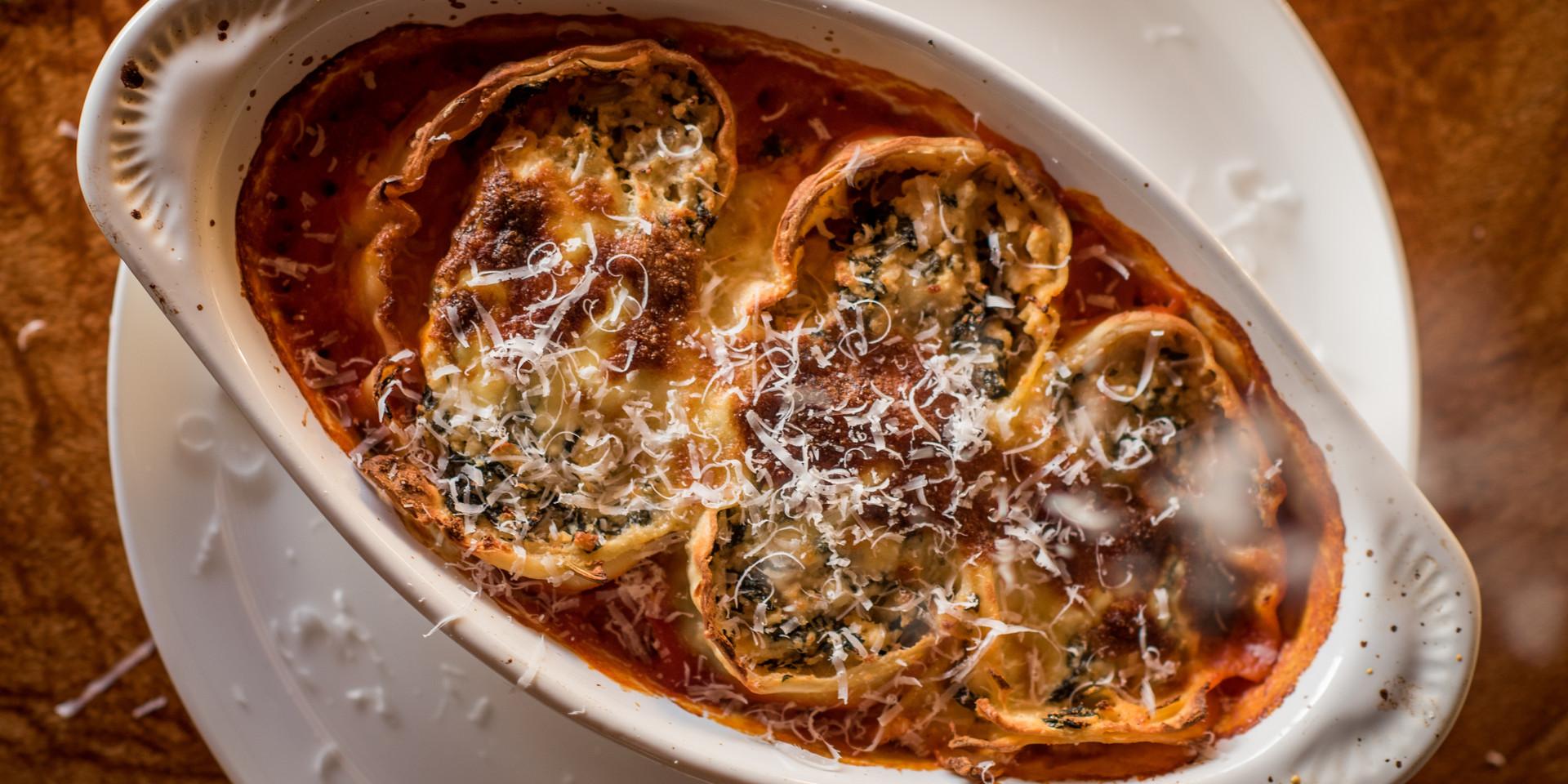 Main - veg option - spinach and ricotta