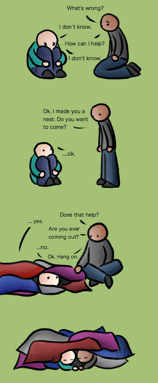 Supporting someone who is feeling low