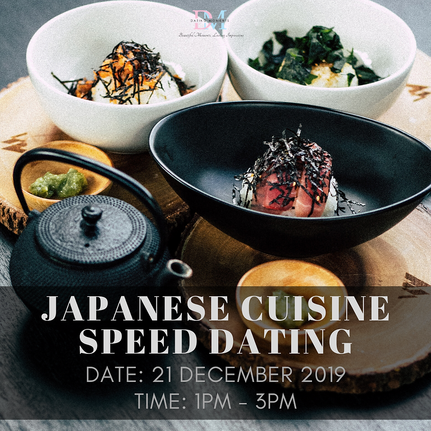 CALLING FOR LADIES! Japanese Cuisine Speed Dating