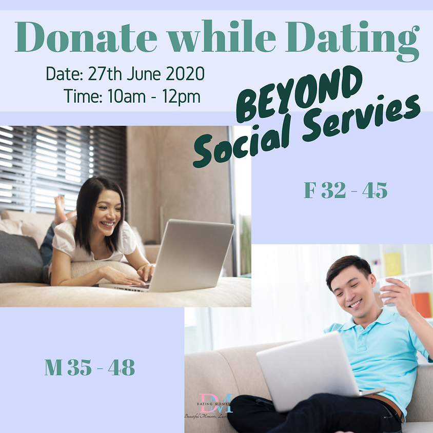 CALLING FOR GENTS! Donate While Dating: Virtual Speed Dating For Charity (F 32 - 45, M 35 - 48)