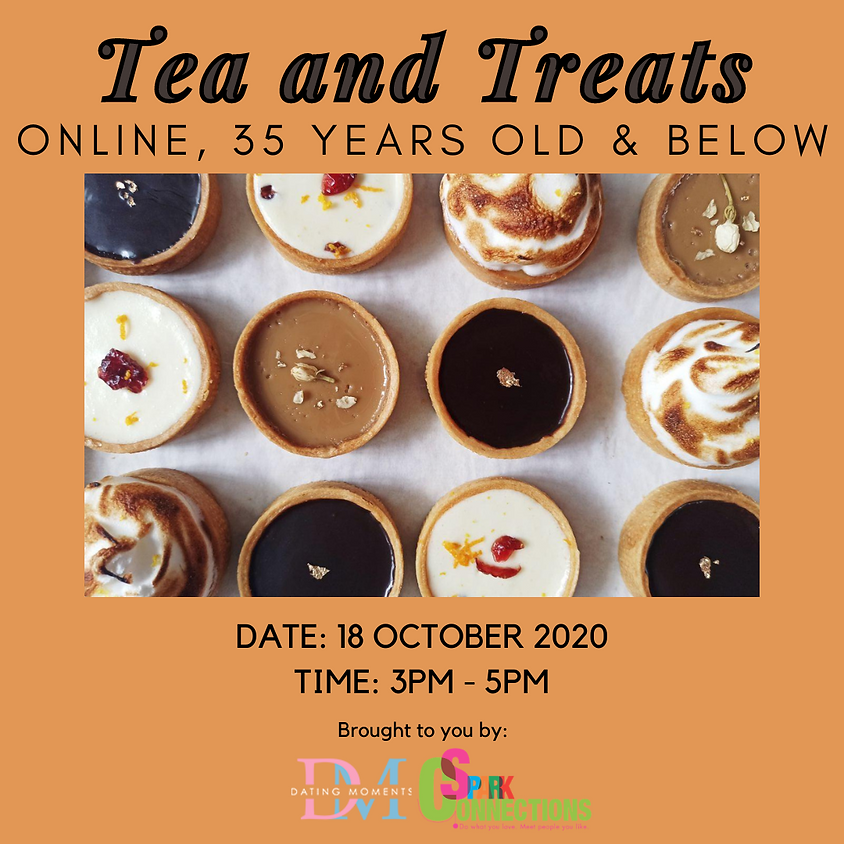 Tea and Treats (Online; for 35 years old and below) (50% OFF)