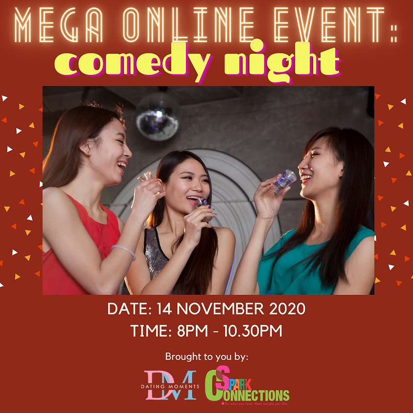 [SOLD OUT] Mega Online Event: Comedy Night (50% OFF)