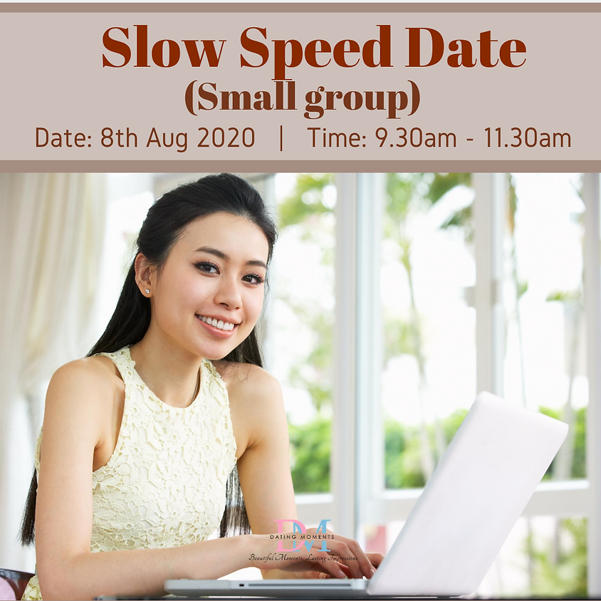 LAST SLOT FOR LADIES! Slow Speed Date (Online event)