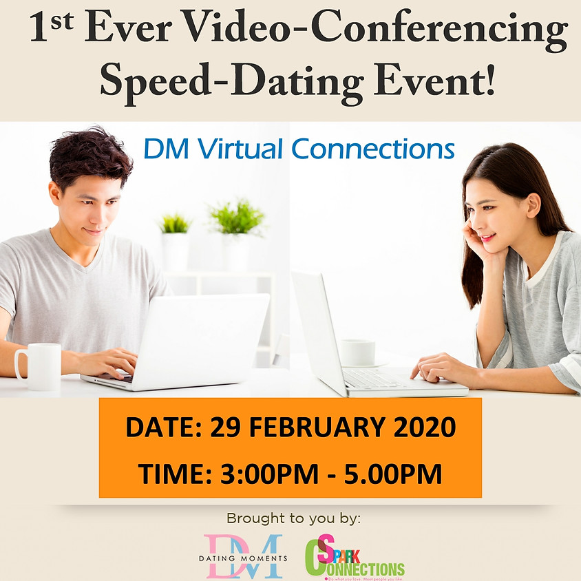 CLOSED! 1st Ever DM Virtual Speed-Dating Event! (With Videoconferencing & 1-to-1 Rotations) (50% OFF)