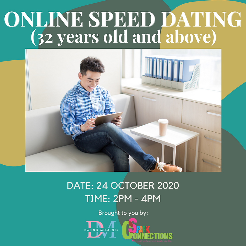 CALLING FOR GENTS! Online Speed Dating (≽32 years old) (50% OFF)