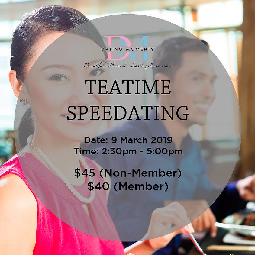 Teatime Speedating (Ladies < 33, Gentlemen < 36)