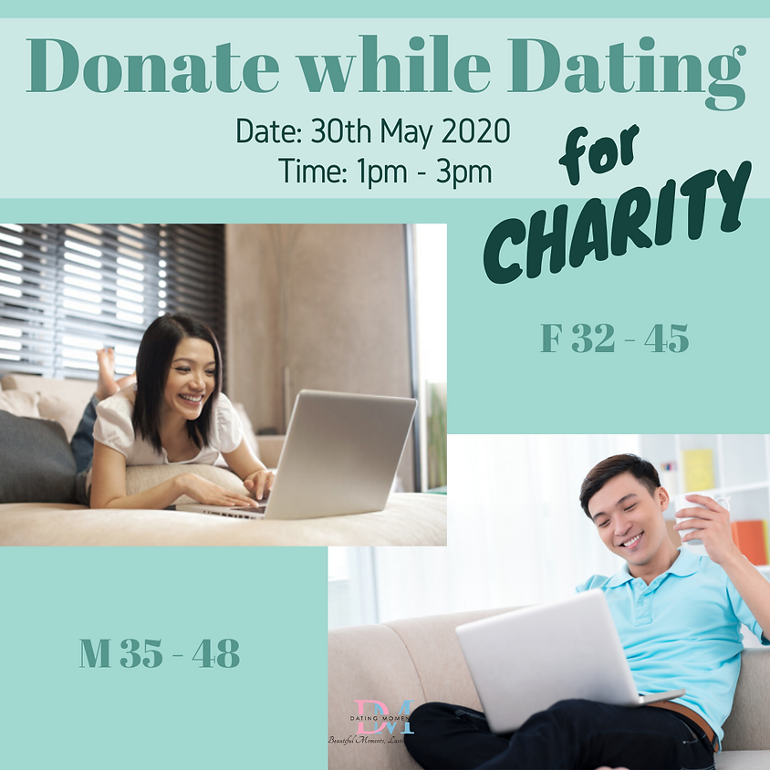 LAST 2 SLOTS FOR GENTS! Donate While Dating: Virtual Speed Dating For Charity (F 32 - 45, M 35 - 48)