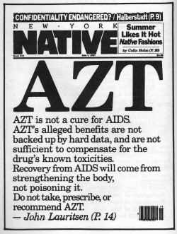 newpaper cover, Native AZT - A Classic Review