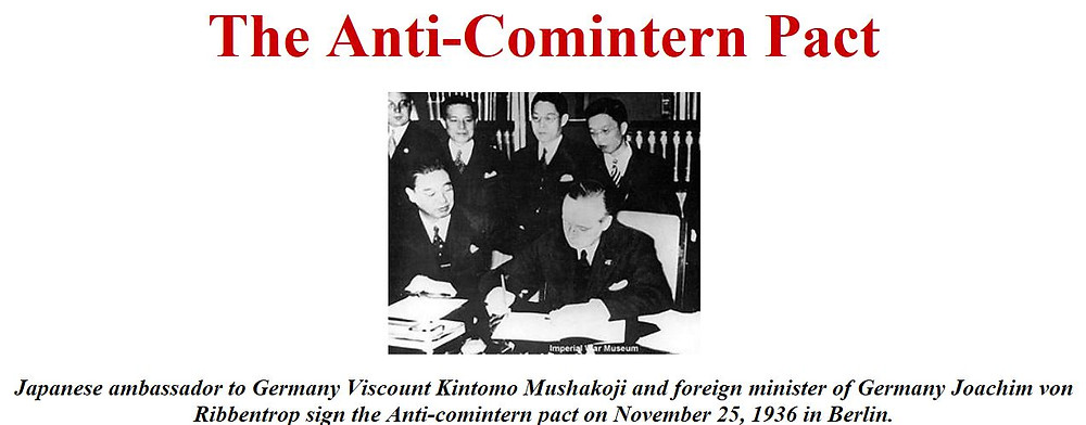 signing of Anti-Comintern Pact  - A Classic Review
