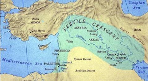 map Fertile Crescent  - A Classic Review