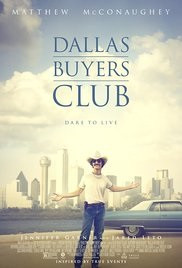 Dallas Buyers Club poster, Matthew McConaughey with city in background - A Classic Review