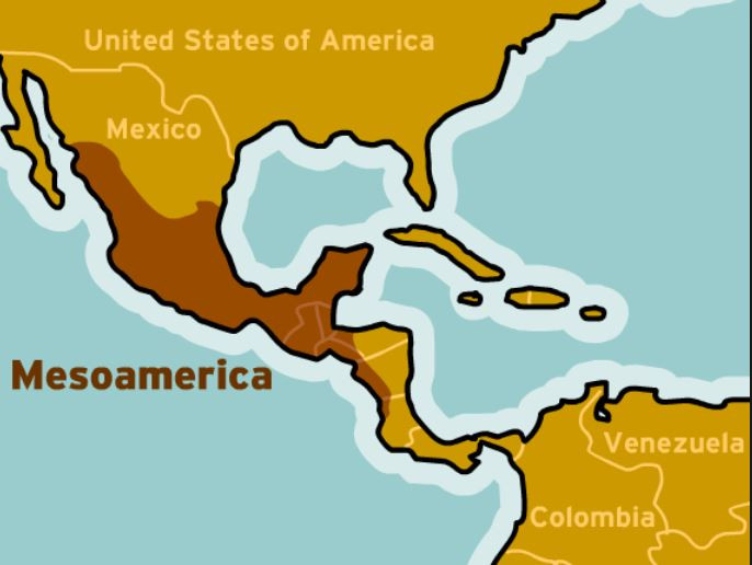 Mesoamerica, map  - A Classic Review