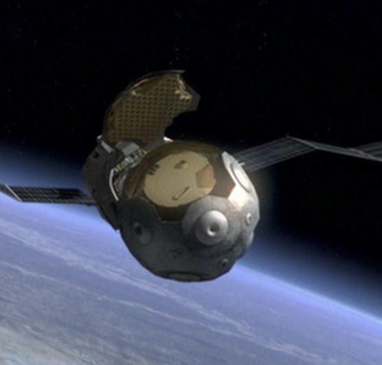 Scoop satellite in orbit, close up - A Classic Review