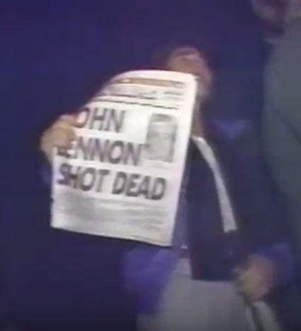 Newspaper cover, John Lennon Shot Dead