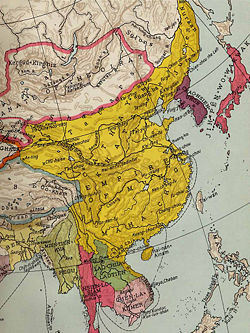 China, map - A Classic Review