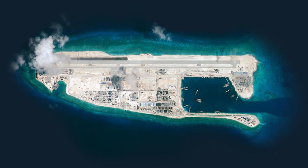Fiery Cross Reef, satellite photo