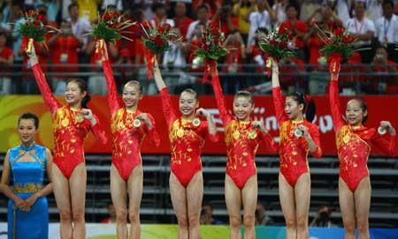 girls, gymnastics team, Olympics - A Classic Review
