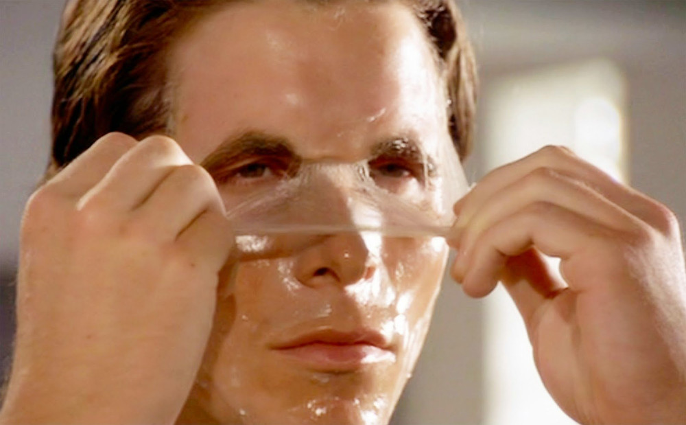 Patrick Bateman (Christian Bale), peels off cosmetic - A Classic Review