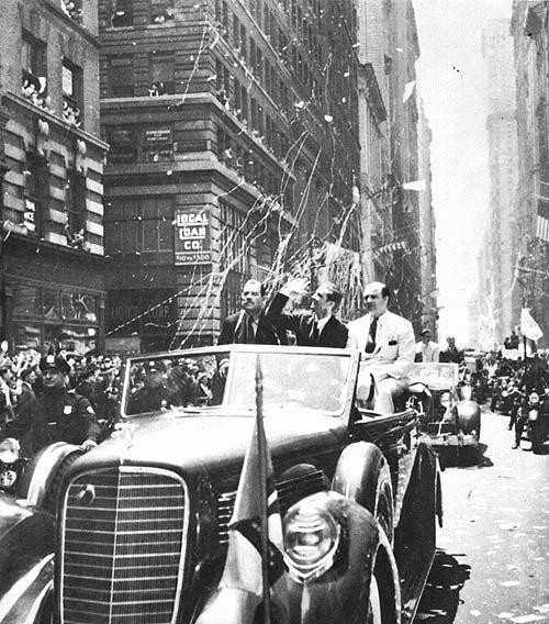 historical photo, Howard Hughes, tickertape parade - A Classic Review