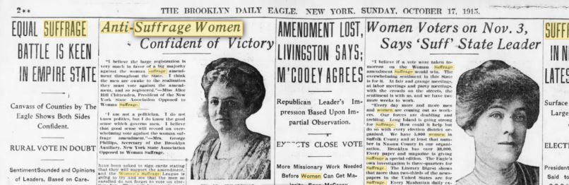 newspaper, women's suffrage  - a classic review
