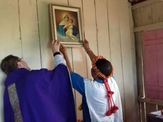 Comunidade indígena celebra inauguração de primeira capela da aldeia