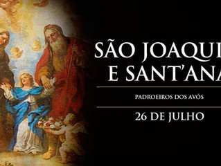Hoje a Igreja celebra São Joaquim e Sant'Ana, padroeiros dos avós