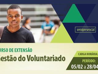 Curso pretende qualificar vivência do voluntariado