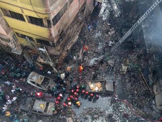 A dor do Papa pelas vítimas de incêndio em Bangladesh