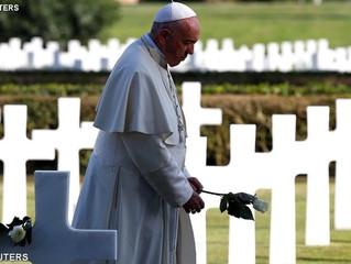 A guerra é a destruição de nós mesmos - Papa no Cemitério de Nettuno
