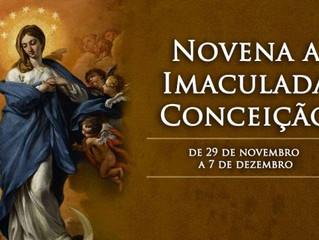 Hoje começa a novena a Imaculada Conceição