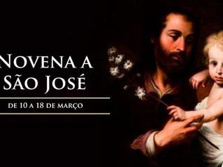 Hoje começa a novena a São José, esposo de Maria e Patrono da Igreja Universal